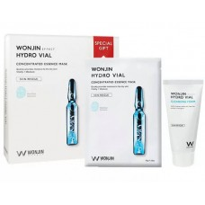 WONJIN Hydro Vial Mask 10pcs + Hydro Vial Cleansing Foam