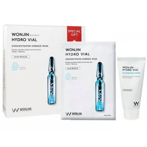 WONJIN Hydro Vial Mask 10pcs + Hydro Vial Cleansing Foam