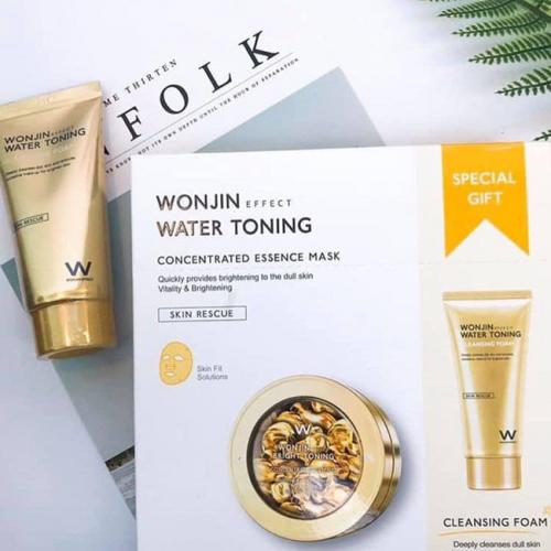 WONJIN Water Toning Brightening Mask 10pcs + Cleansing Special Kit